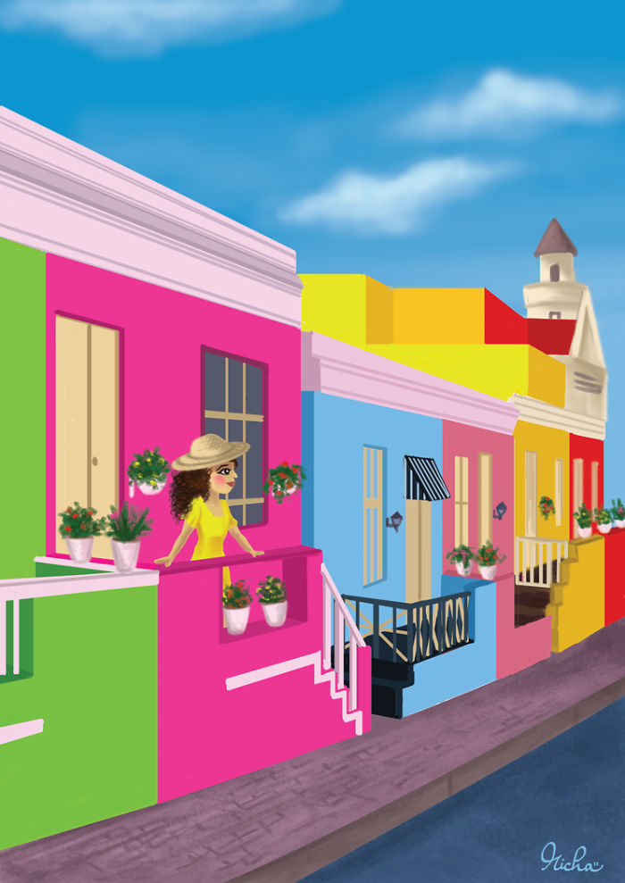 Bo Kaap district, South Africa.