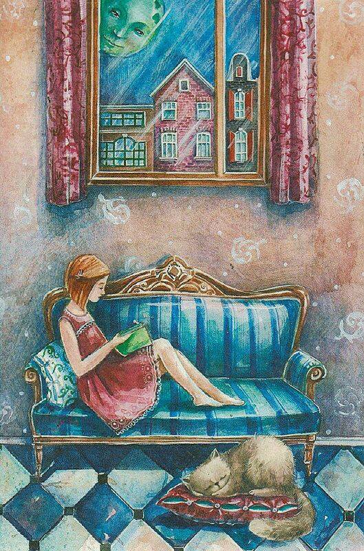 Che fonte inesauribile di piacere sono i libri per me! [...] Credo che potrei vivere qui beatamente, leggendo in eterno. _ Virginia Woolf _ Immagine reperita nel web.