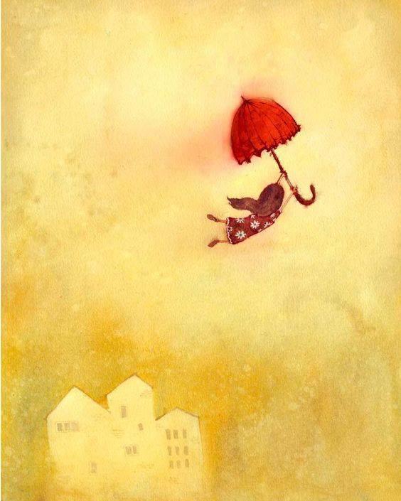 """[...]Codesto solo oggi possiamo dirti, Ciò che non siamo, ciò che non vogliamo. Eugenio Montale, """"Non chiederci la parola"""". """"Fly away"""", print by Lee White"""