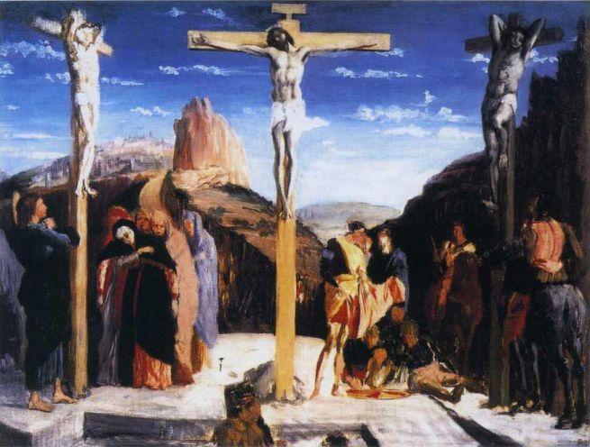 """Copia della """"Crocifissione del Mantegna"""" (1861) eseguita da Degas."""