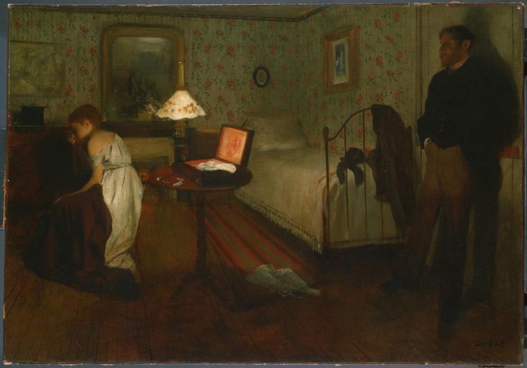 """""""Interno"""" (conosciuto anche come """"Lo stupro""""), 1868-1869."""