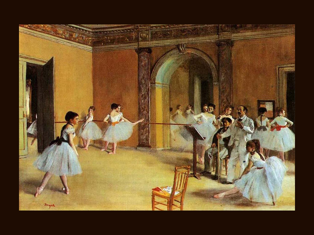 """Foyer di danza all'Opéra"", 1872. Parigi, Museo d'Orsay."