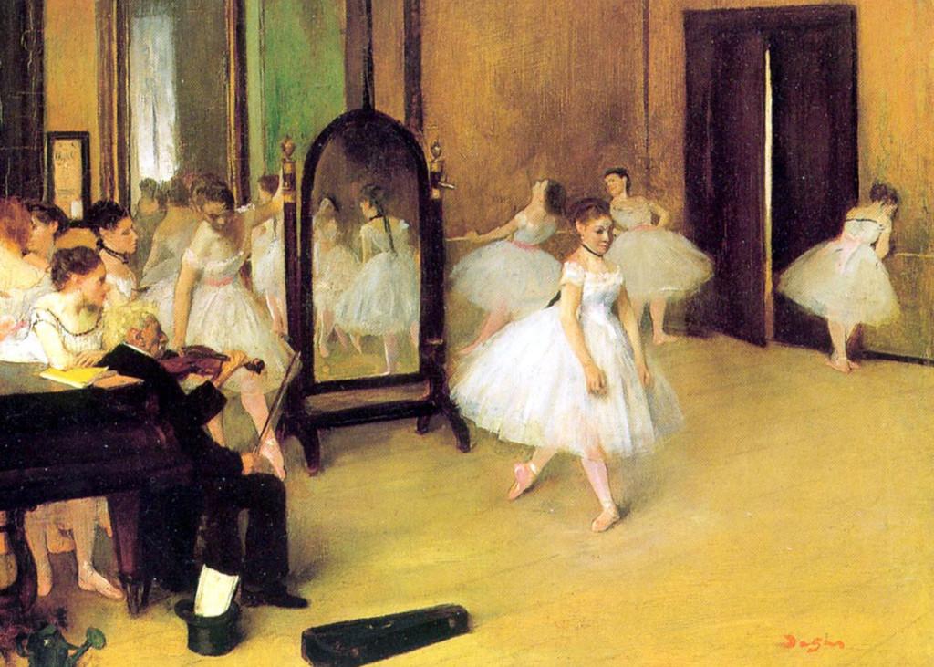 """Classe di danza"", 1871. New York, Metropolitan Museum of Modern Art."