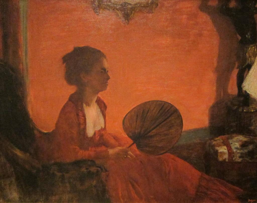 """""""Madame Camus in rosso con ventaglio"""", 1870."""