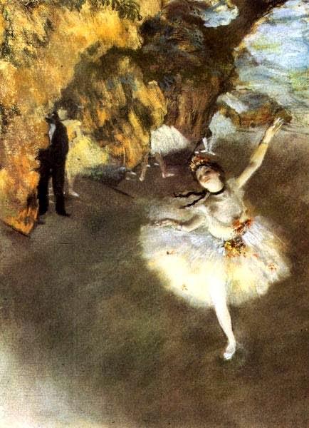 """""""Ballerina che fa il saluto"""", 1876-77. Museo d'Orsay."""