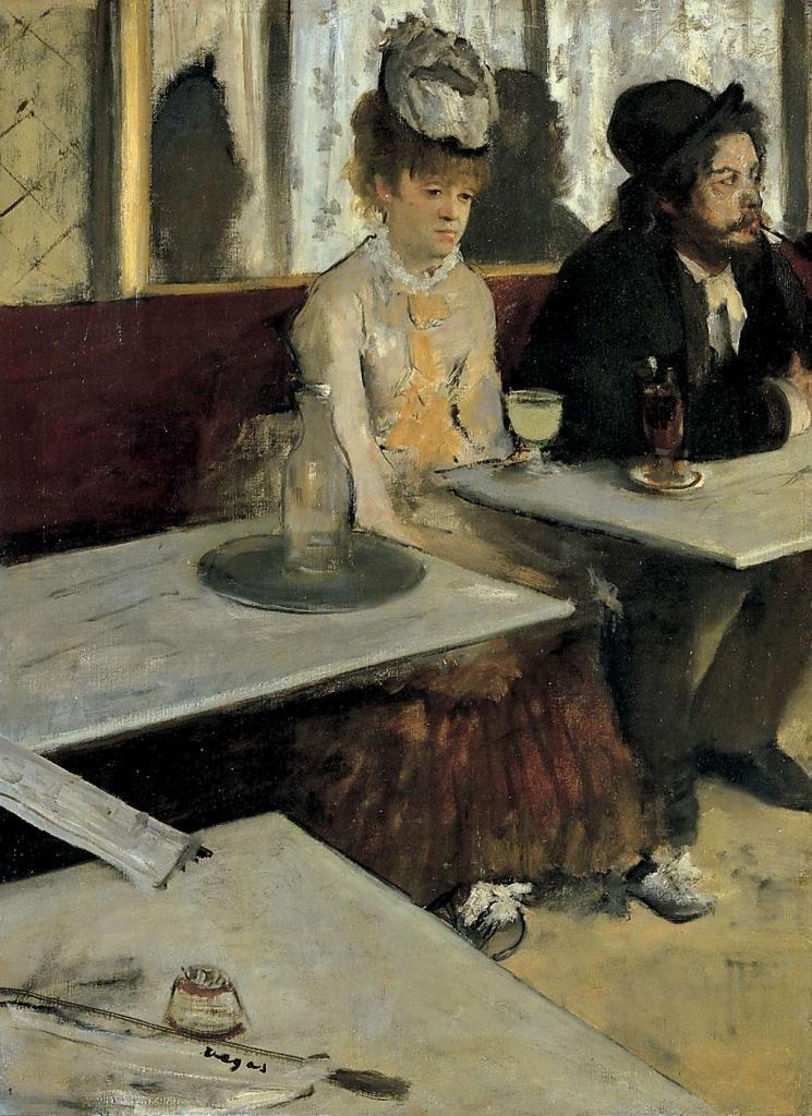 """""""L'assenzio"""", 1875-76. Parigi, Museo d'Orsay."""