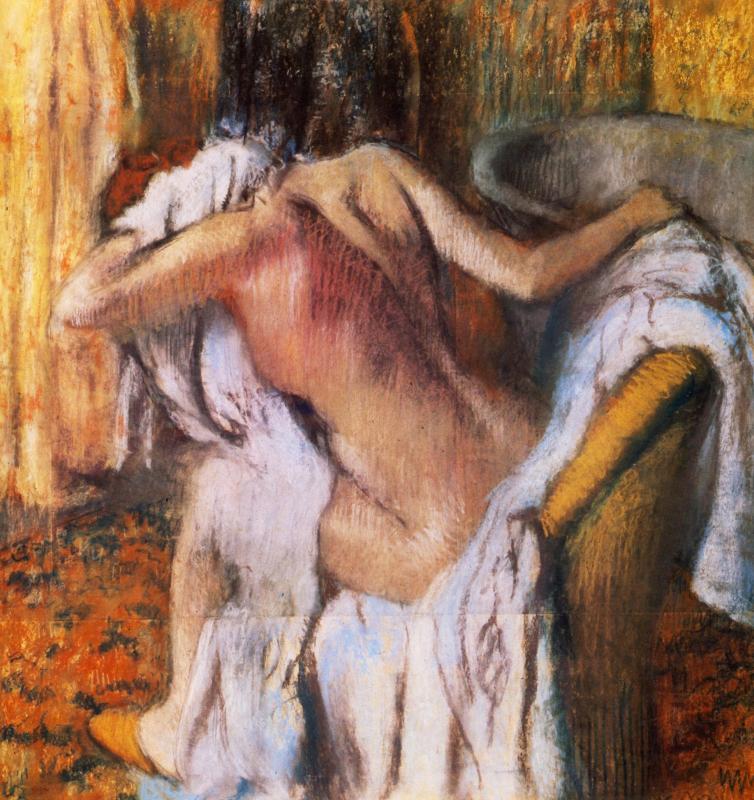 """""""Dopo il bagno, donna che si asciuga"""",1890-95."""