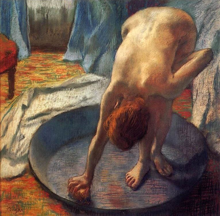 """Le tub"", 1885-1886. Farmington, Hill-Stead Museum of Art."