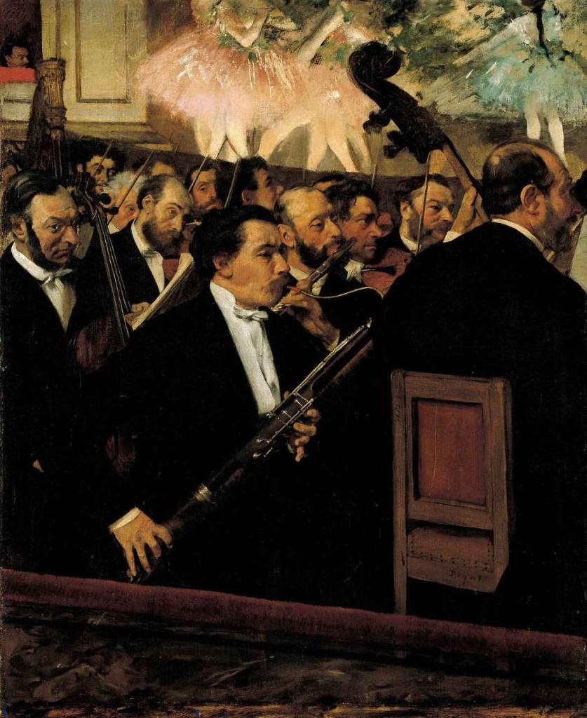"""L'orchestra dell'Opéra"", 1868."