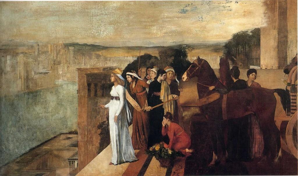 """""""Semiramide alla costruzione di Babilonia"""", olio su tela,1860 - 1862. Musée d'Orsay di Parigi."""