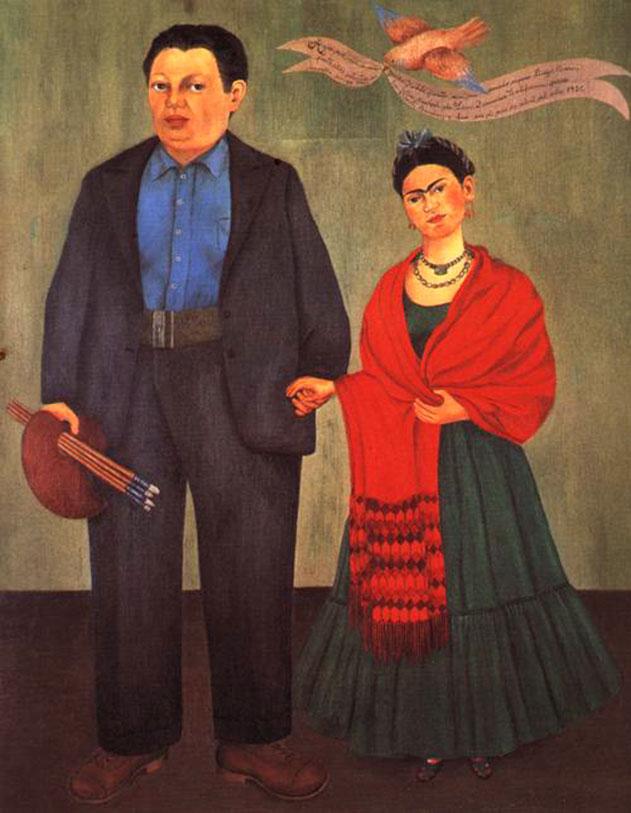 """""""Autoritratto con Diego Rivera"""", 1931."""