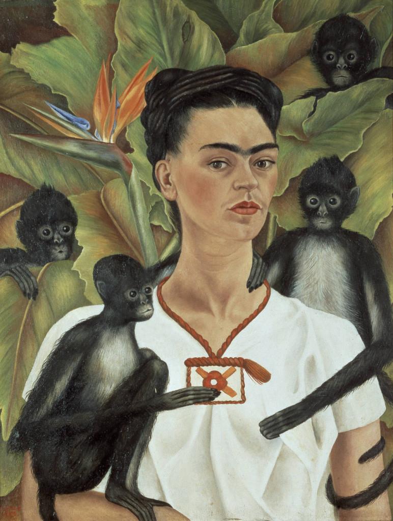 """""""Autoritratto con scimmie"""", 1943."""