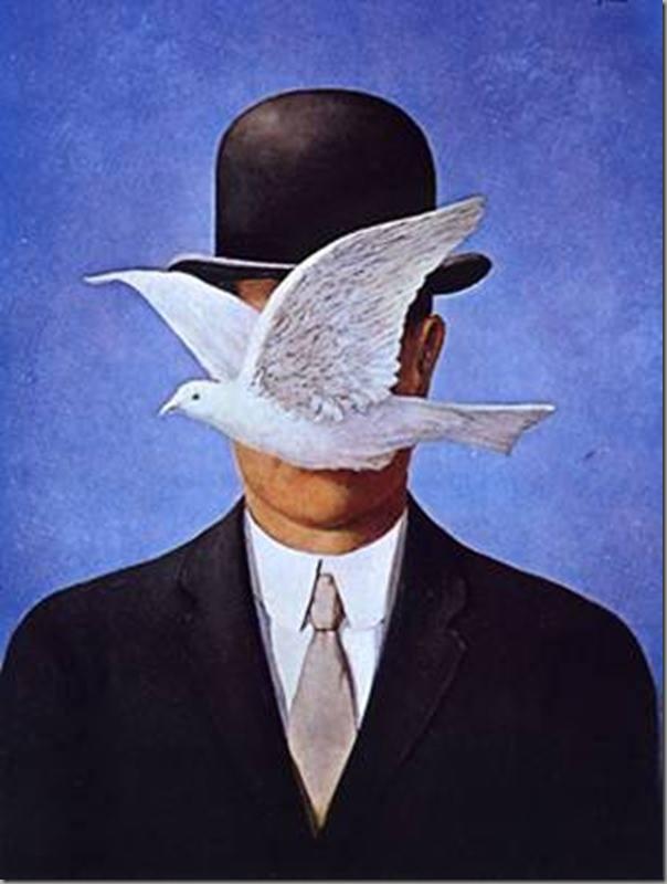 Il mondo è così totalmente e meravigliosamente privo di senso che riuscire ad essere felici non è fortuna... è arte allo stato puro! _ Renè Magritte _ Immagine reperita nel web.