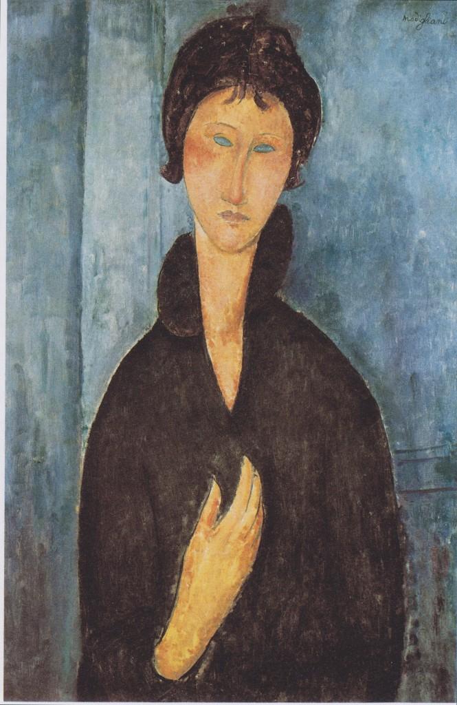 """""""Donna dagli occhi azzurri"""", 1918."""