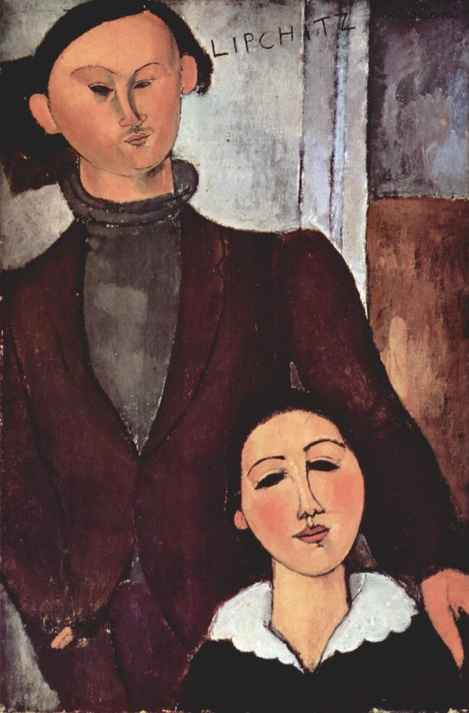 """""""Jacques Lipchitz e sua moglie Bertha"""", 1917."""