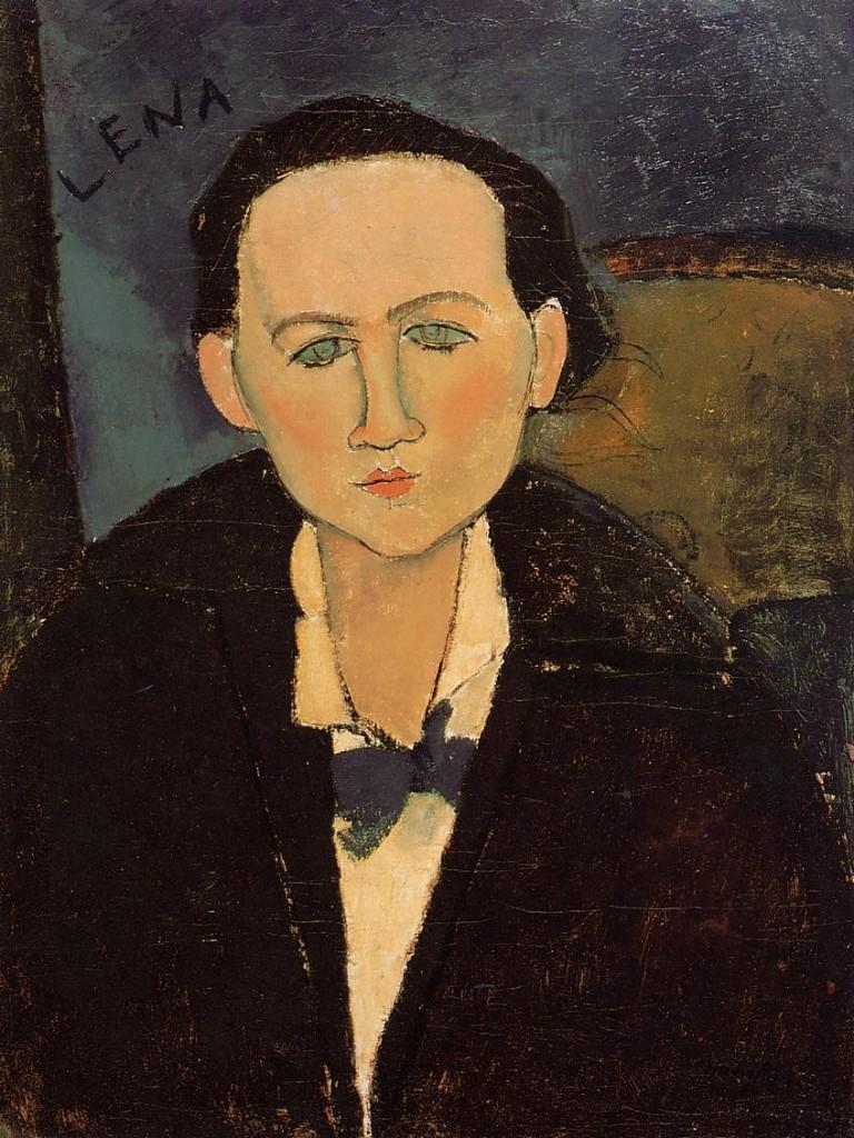 """""""Ritratto di Elena Pavlowski"""", 1917."""