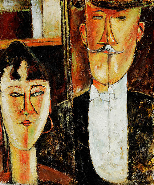 """""""La sposa e lo sposo"""", 1915."""
