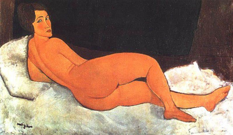 """Nudo sdraiato sul fianco sinistro"", 1917."