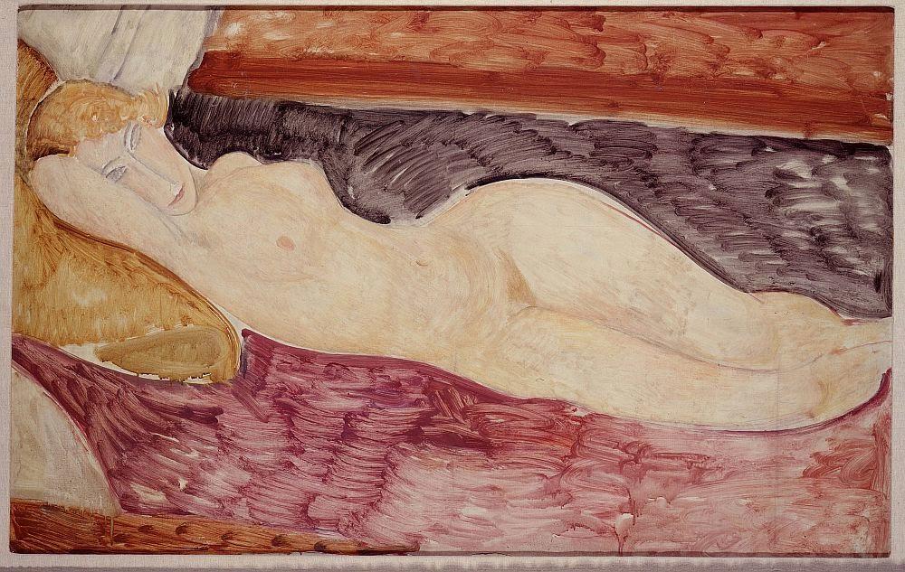 """""""Nudo sdraiato"""", 1918-1919."""