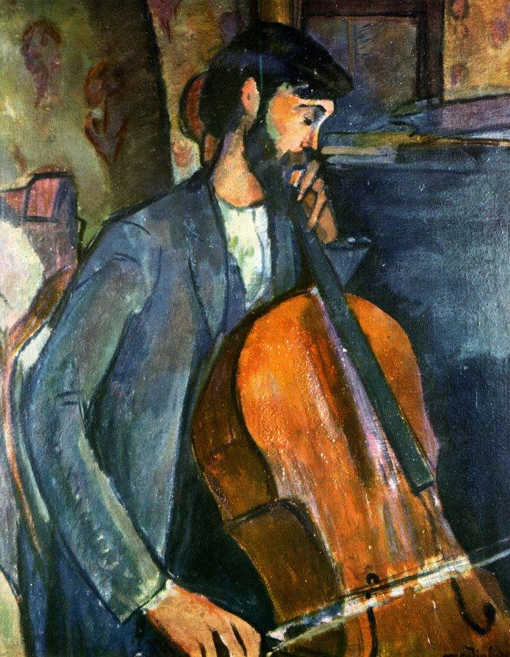 """""""Il suonatore di violoncello"""", 1909."""