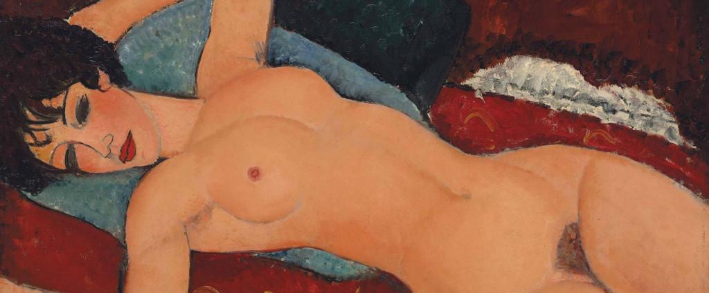 """""""Nu couché"""" (""""Nudo sdraiato""""), 1917, venduto qualche anno fa a New York per la """"modica"""" cifra di 170 milioni di dollari."""