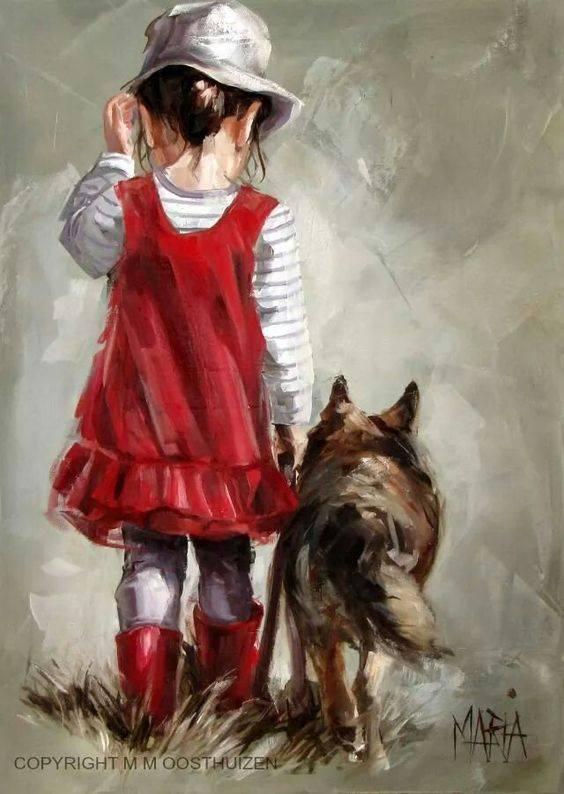 Non indurire mai il tuo cuore. Di dura basta la vita. _ Edvania Paes _ Dipinto di Maria Oosthuizen.