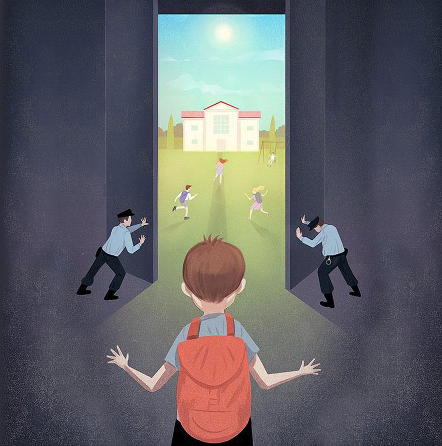 """""""Allontana i tuoi figli dalla prigionia"""", Marco Melgrati."""