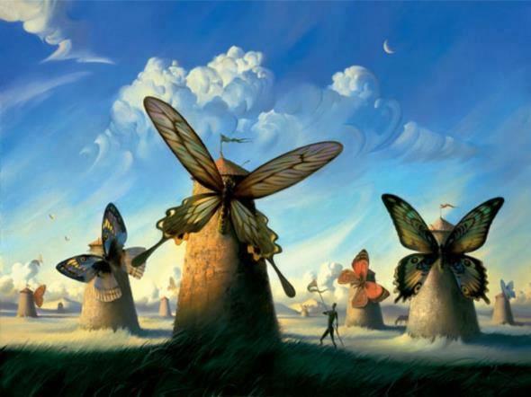 Quando soffia il vento del cambiamento alcuni costruiscono muri, altri mulini a vento. (Proverbio cinese). Immagine reperita nel web.