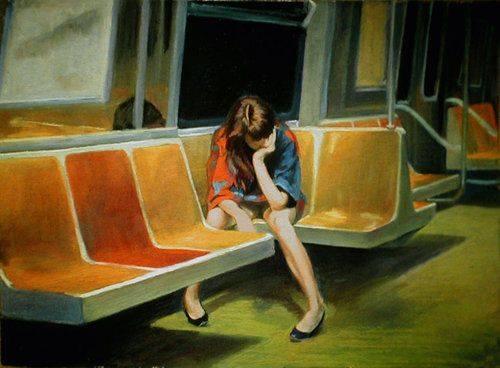 Quante energie sprecate a mostrarci più forti di quanto siamo. Quando qualcuno potrebbe anche amarla la nostra fragilità. @GinevraCardinal Dipinto di Edward Hopper.