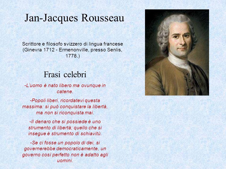 Super Jean-Jacques Rousseau, biografia, pensiero, frasi e citazioni BZ47