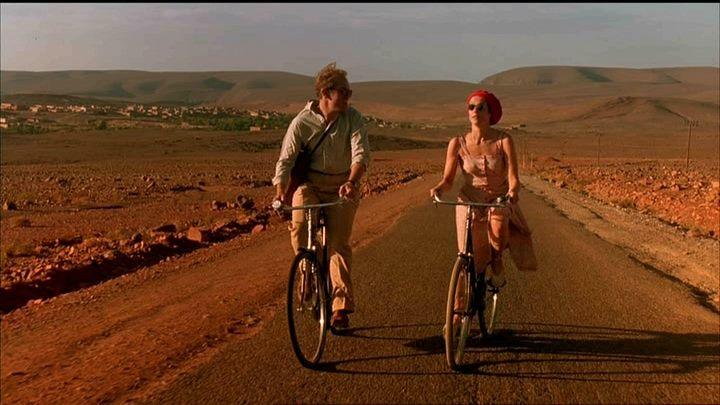 """Siamo forse i primi turisti che vengono qui dopo la guerra. Zitto, Tunner! Noi non siamo turisti, siamo viaggiatori. Oh! Che differenza c'è? Il turista è uno che appena arriva pensa di tornare a casa, Tunner... Mentre il viaggiatore può non tornare affatto... Dal capolavoro di Bernardo Bertolucci """"Il tè nel deserto""""."""