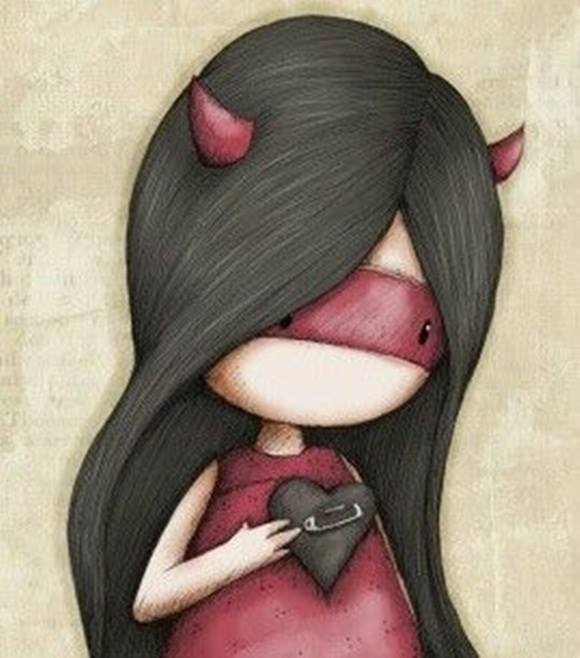 A volte si diventa diavoli, solo perché hanno umiliato l'angelo che eri. _ Giuseppe Iada _ Gorjuss, Suzanne Woolcott.