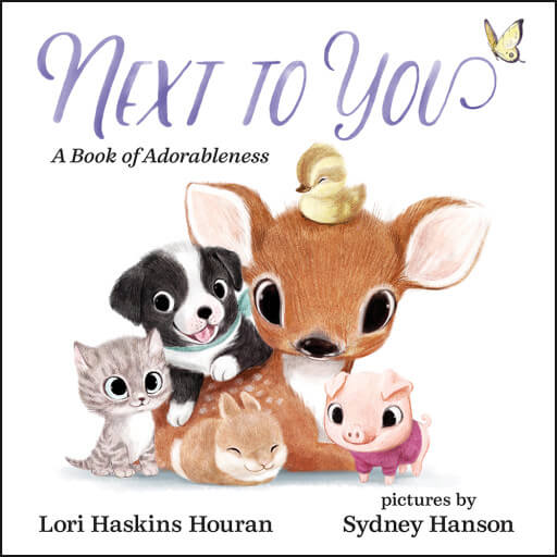 "La copertina del libro ""Next to You"" di Lori Haskins Houran e illustrato da Sydney Hanson."