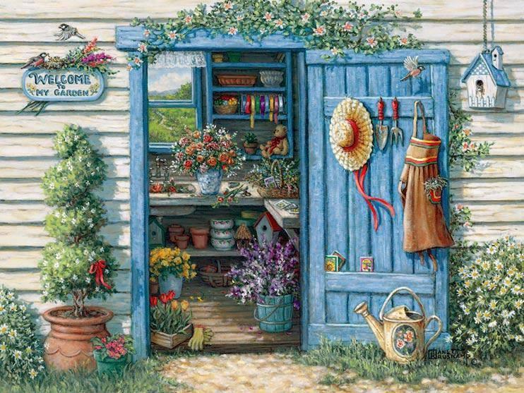 """Il bello del giardinaggio: le mani nello sporco, la testa baciata dal sole, il cuore vicino alla natura. Coltivare un giardino non significa nutrire solo il corpo, ma anche l'anima. _ Alfred Austen _ """"Welcome to My Garden"""", Janet Kruskamp."""