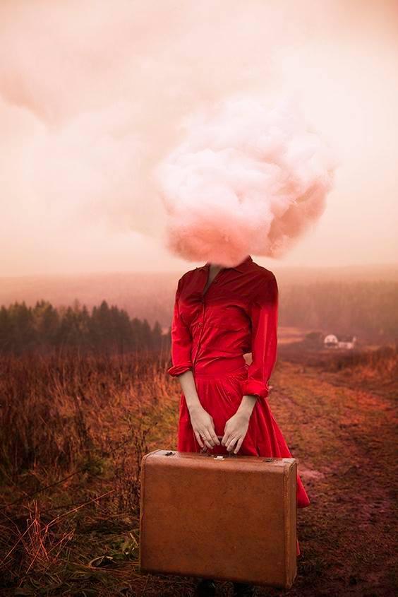 Le persone buone non mettono in atto nessuna vendetta, se non, la più spietata: l'assenza. _ Valentina Veltro _ Surreal Self-Portrait by Alicia Savage.