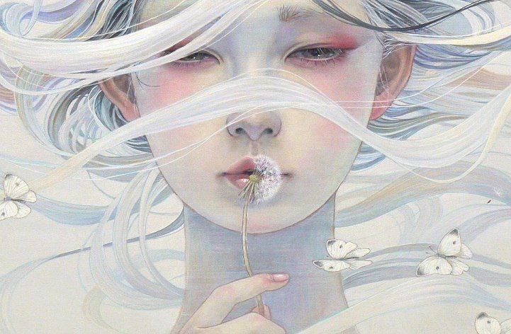 Mi hanno piantato dentro così tanti coltelli che quando mi regalano un fiore all'inizio non capisco neanche cos'è. Ci vuole tempo. _ Charles Bukowski _ Oil Painting by Miho Hirano.