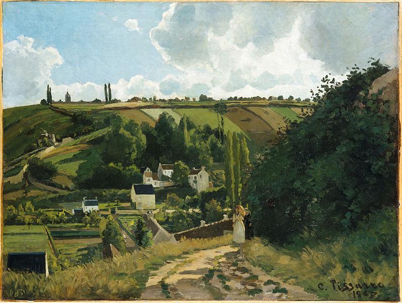 """Jalais Hill, Pontoise"" (1867)."