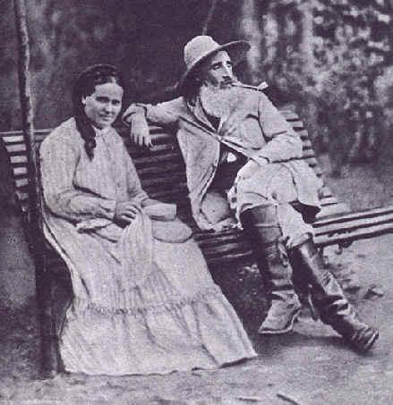 Camille Pissarro e sua moglie, Julie Vellay. Pontoise, 1877.