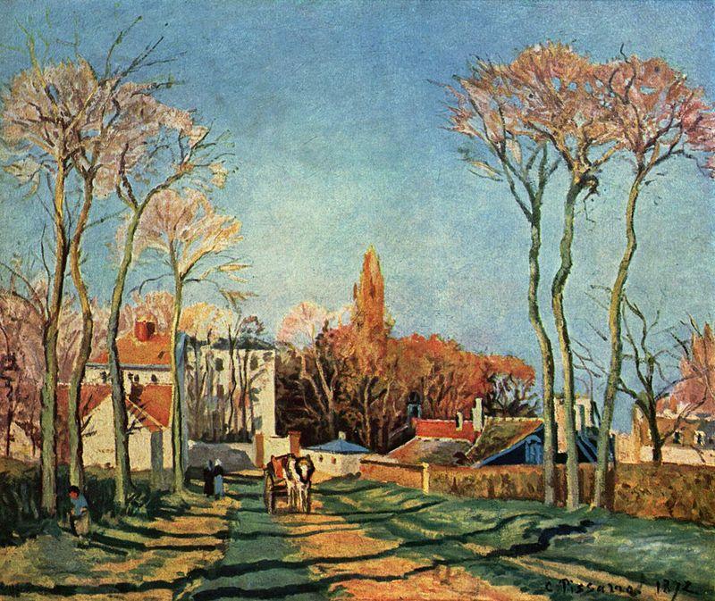 Entrata del villaggio di Voisins, 1872.