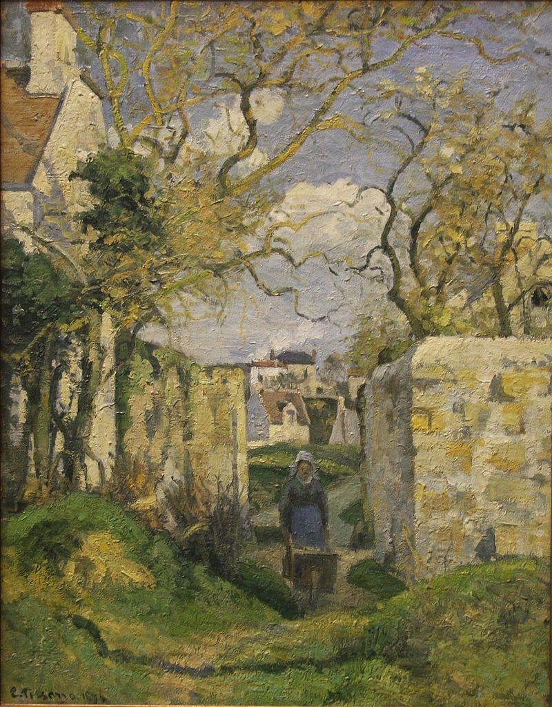 """Contadina che spinge una carriola"", Maison Rondest, Pontoise, 1874"