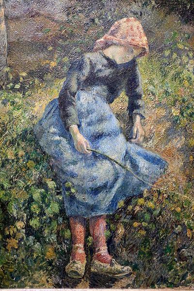 """""""La pastorella"""" o """"Fanciulla con bastoncino"""", 1881. Musée d'Orsay, Parigi."""
