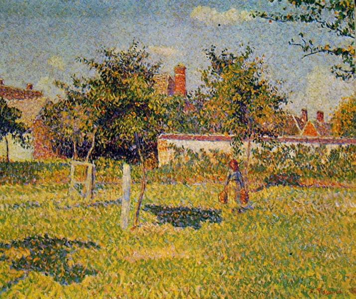 """""""Sole di primavera nel prato a Eragny"""", 1887, olio su tela, Museo d'Orsay, Parigi."""