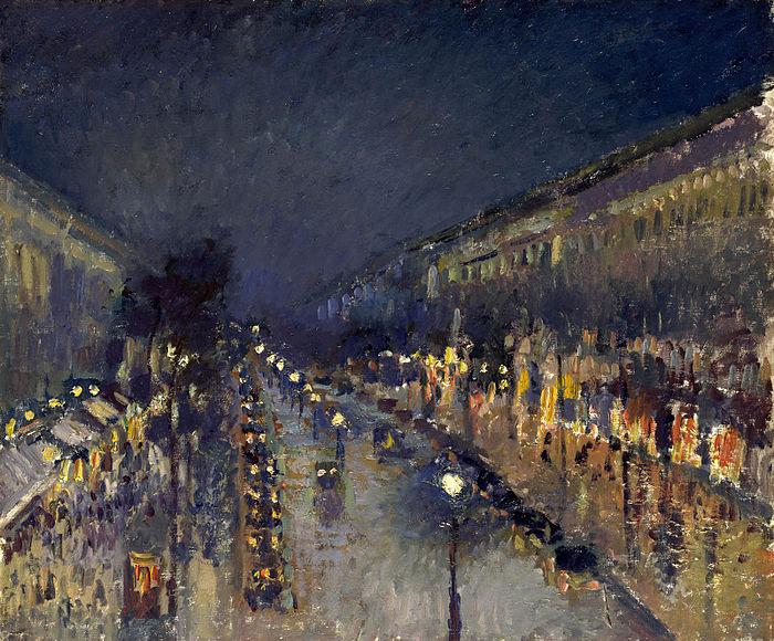 """Boulevard Montmartre di notte"", 1897. National Gallery, Londra."