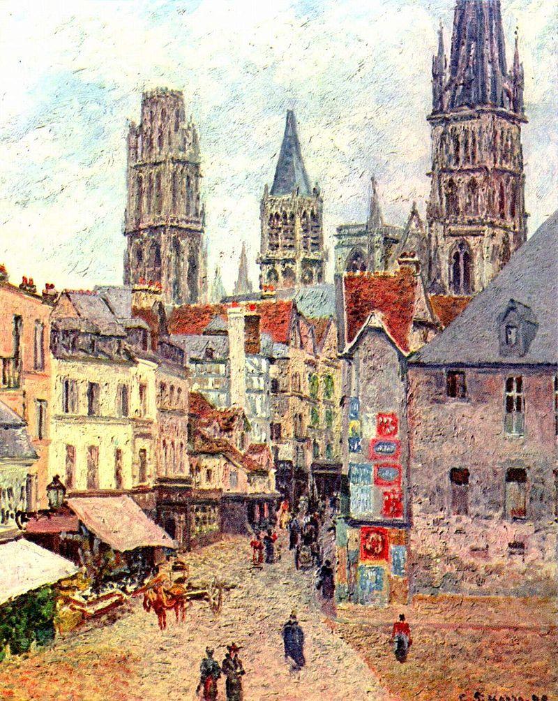 """""""Rouen, Rue de l'Épicerie"""", 1898."""