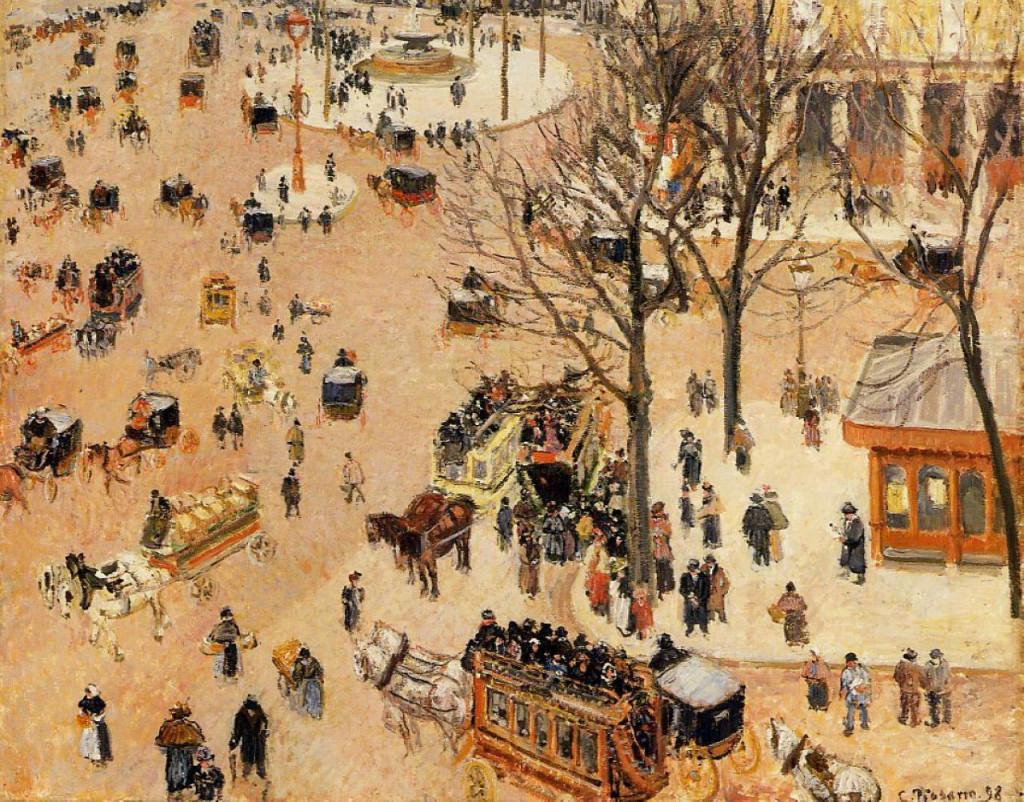 """""""Place du Théatre Français"""", 1898."""