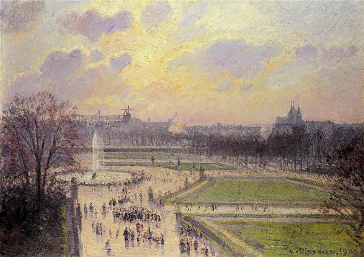 """""""Le Bassin Des Tuileries"""", 1900. Collezione privata."""