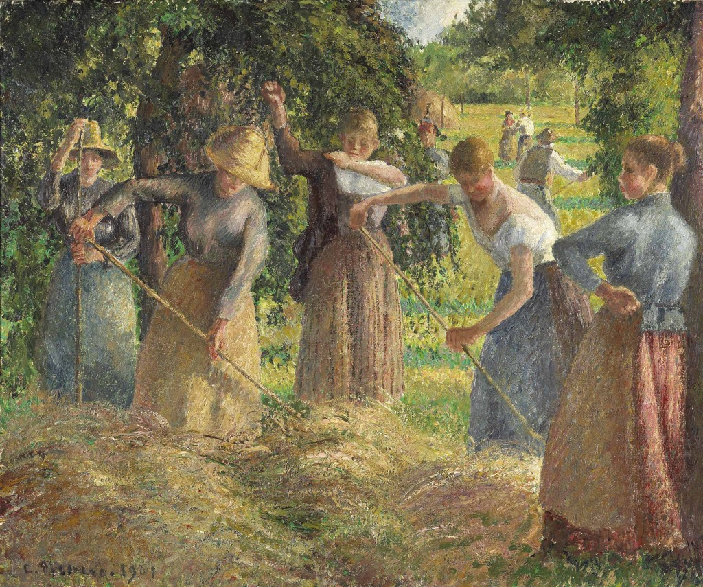 """Raccolta di fieno a Éragny"", 1901. National Gallery of Canada."