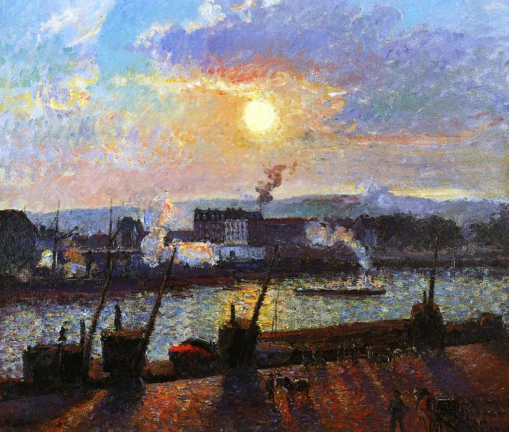 """""""Tramonto a Rouen"""", 1898."""