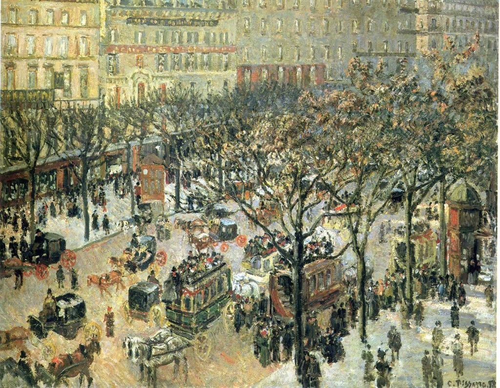 """Boulevard des Italiens Morning, Sunlight"", 1897."