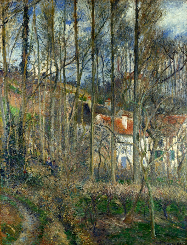 The Côte des Bœufs at L'Hermitage - National Gallery London, 1887.
